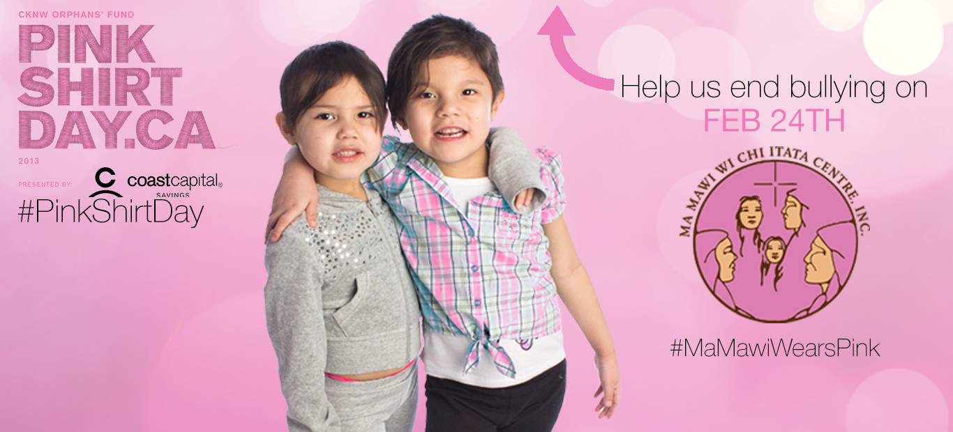Ma Mawi – Pink Shirt Day Website Banner