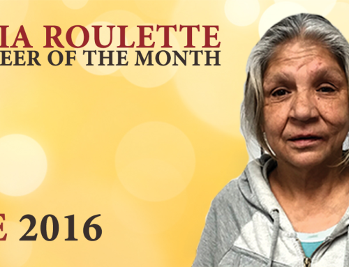 Volunteer of the Month: Gloria Roulette