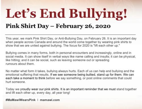 Anti-Bullying Pink Shirt Day!