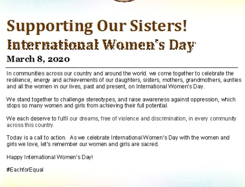 Celebrating International Women's Day March 8th